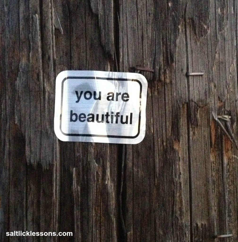inspirational image, you are beautiful for real
