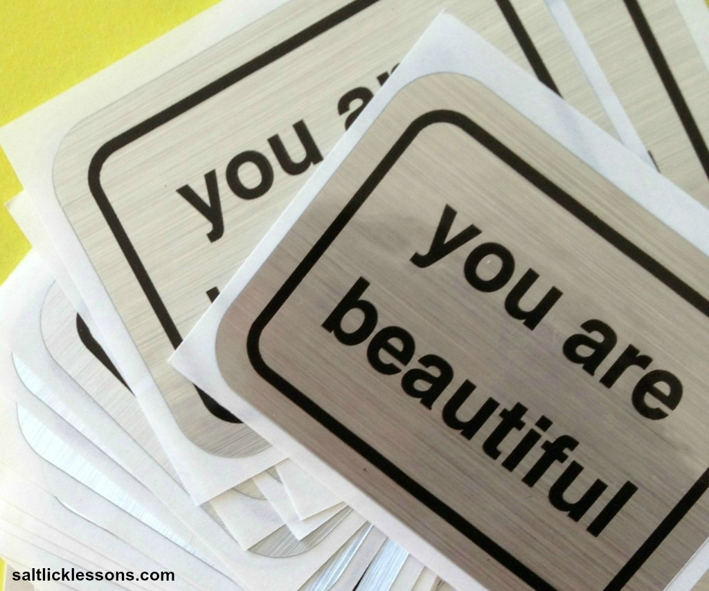 inspirational image, you are beautiful stickers