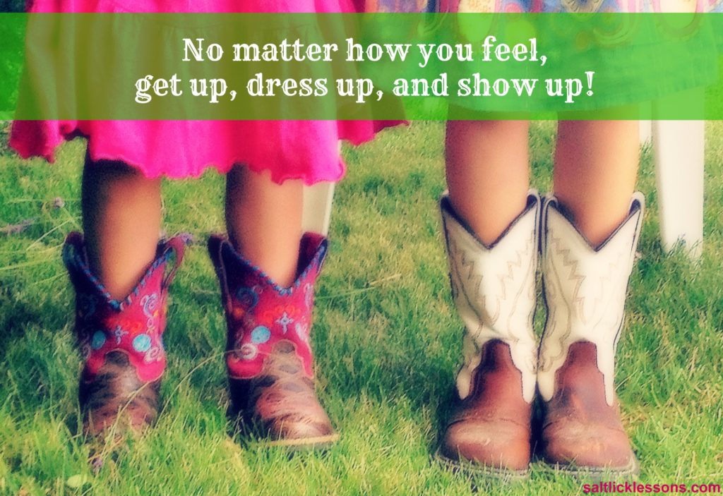 inspirational image, dress up, show up