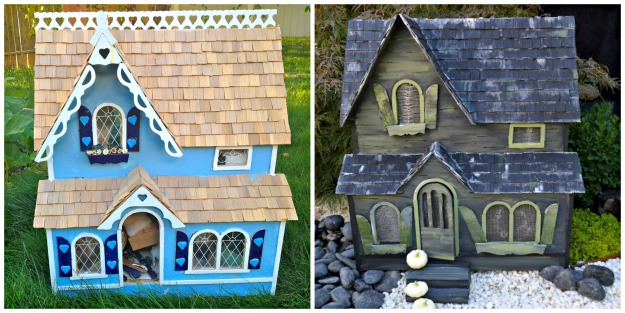 Haunted Dollhouse Before and After, Haunted Dollhouse, Halloween