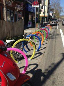 salt lick lessons, yarn bombing, oakland bike rack