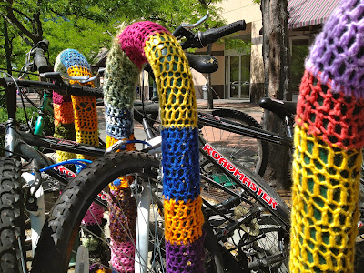 Yarn Bombing, Yarn Bombed Bike Racks