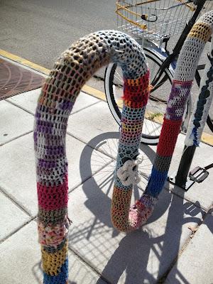 Yarn Bombing, Yarn Bombed Bike Racks