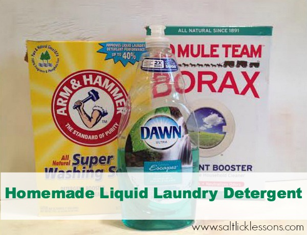 DIY Liquid Laundry Detergent - Salt