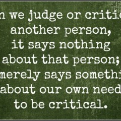 Resist the Urge to Criticize
