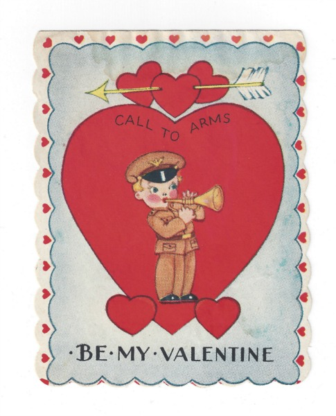 vintage valentine call to arms