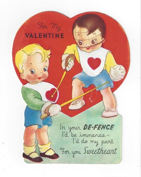 vintage valentine in your de-fence