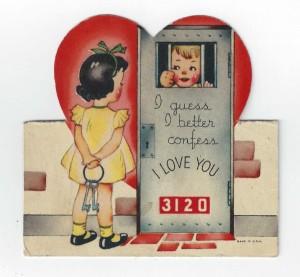 vintage valentine I confess