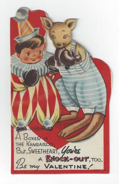 vintage valentine, knock-out