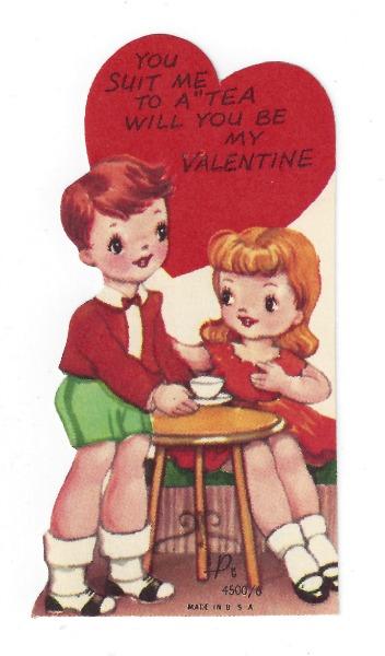 Vintage Valentine, to a tea