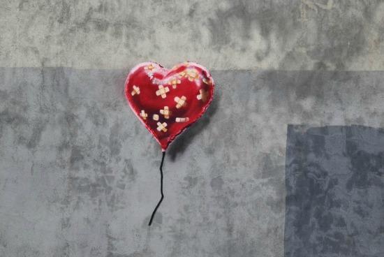 fix that broken heart, banksy balloon