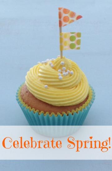 Spring cupcakes, celebrate spring