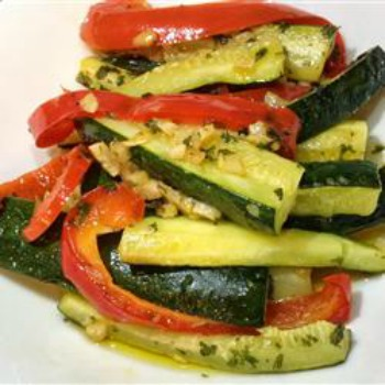sauteed vegetables from All Recipes.com, weekly food prep