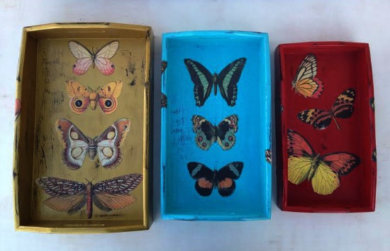 wooden butterfly nesting trays