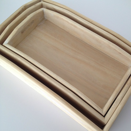 wooden nesting trays