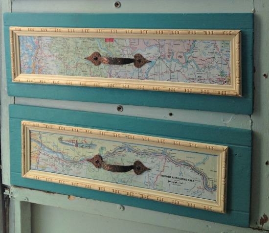 vintage trailer map drawers
