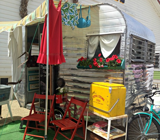decked out vintage trailer