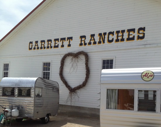Vintage trailers at Garrett Ranches