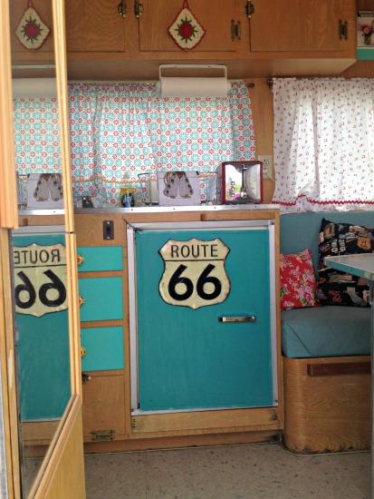 Route 66 vintage trailer