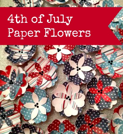 4th of July Paper Flowers