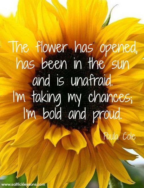 Sunday Sentiment {three–the one about being bold}