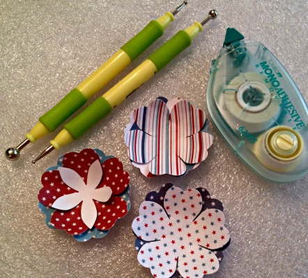 Paper flower crafting tools
