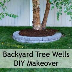 Backyard Makeover – DIY Tree Wells