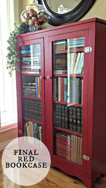Red Painted Bookcase DIY project
