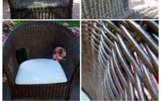 Painted Wicker Chair DIY Makeover