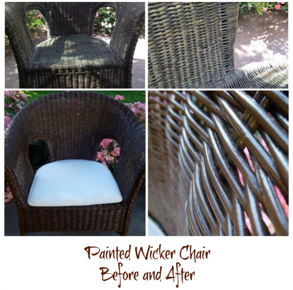 Painted Wicker Before and After, DIY home project