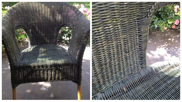 Wicker Chair DIY Redo With Paint