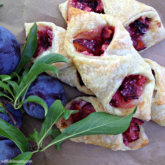 Plums and Open Plum Hand Pies