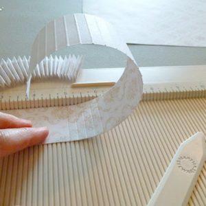 Scoring paper to make rosette