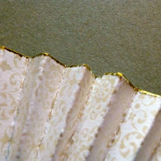 paper rosette gift topper inked paper edges