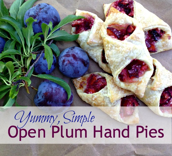 Yummy, Simple Open Plum Hand Pies