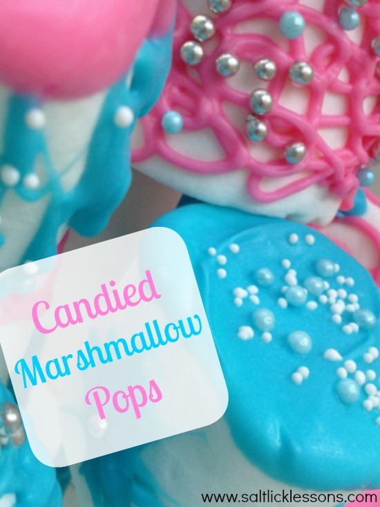 Candied Marshmallow Pops