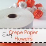 Crepe Paper Flowers (Last Minute Halloween Decor)