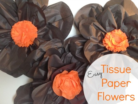 Crepe paper flowers last minute halloween decor salt lick lessons easy tissue paper flowers mightylinksfo