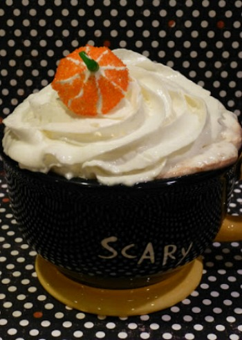 Halloween Meringues on Cocoa