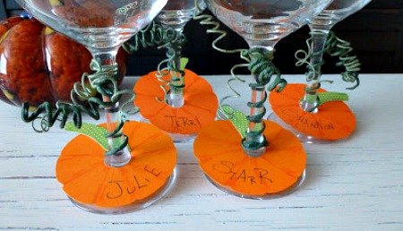 Pumpkin Wine Stem Tags