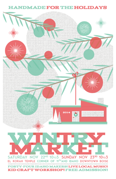 Wintry Market Poster 2014