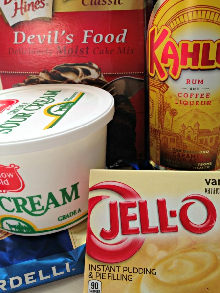 Kahlua Cake Ingredients