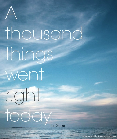 Sunday Sentiment {18 – the one about a thousand things}