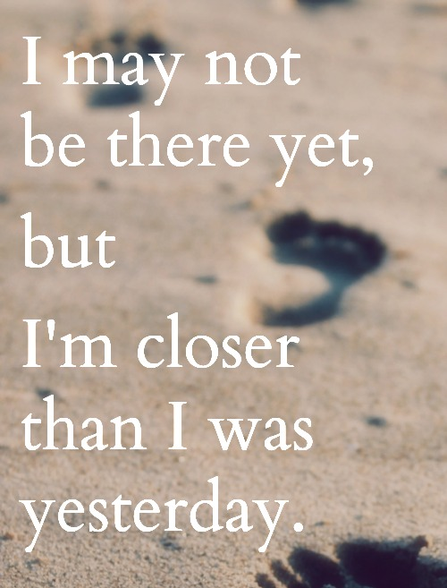 Sunday Sentiment {16 – the one about getting closer to my goals}