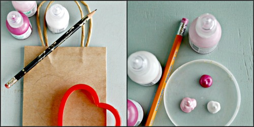 Puffy Paint Gift Bag Supplies