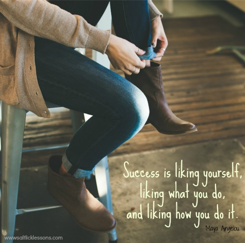 Success is Liking Yourself, motivational quote, motivational image