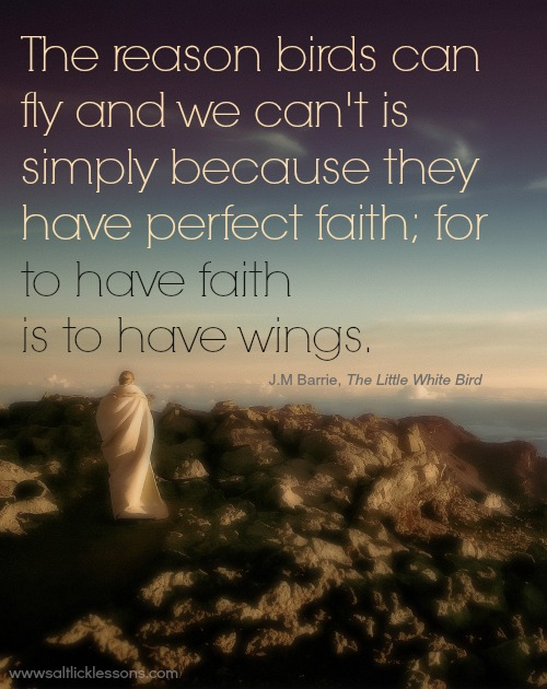 The reason birds can fly, inspirational quote, inspirational image