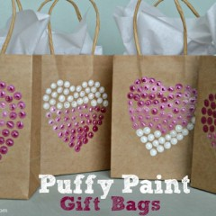 Puffy Paint Gift Bags