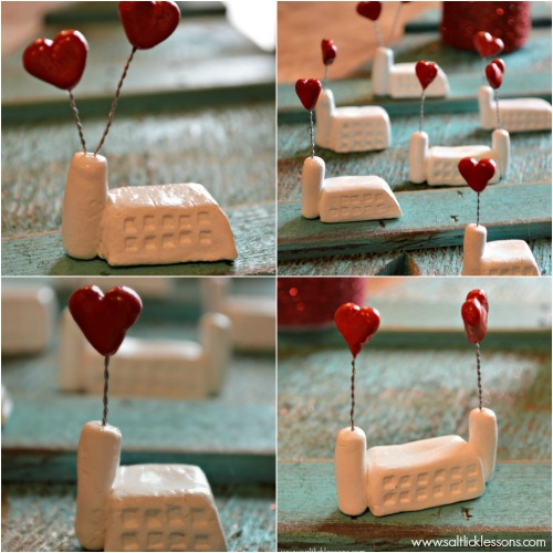 Valentines Factories made with lightweight modeling clay