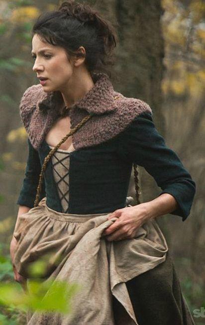 shrug, outlander, knitting